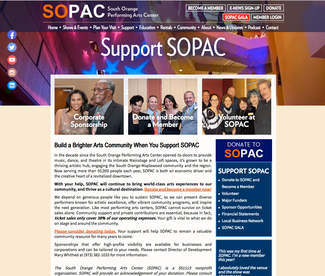 SOPAC - Support, Donations, Membership